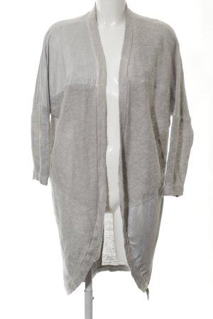 Cotton Candy Gebreide jas lichtgrijs casual uitstraling
