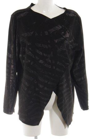 Cotton Candy Veste cache-coeur noir motif rayé style décontracté