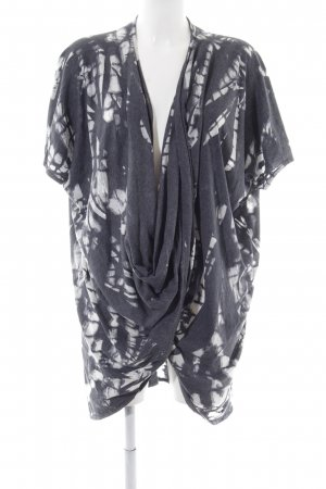 Cotton Candy Wraparound Shirt light grey-white abstract pattern casual look