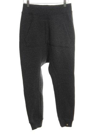 Cotton Candy Pantalon en laine noir style athlétique