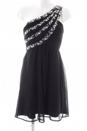 Cotton Club One Shoulder Dress black elegant