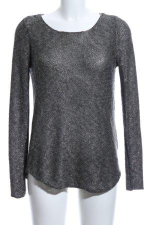 Cotton Club Strickshirt schwarz meliert Casual-Look