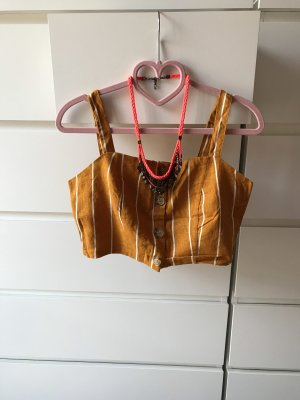 Cotton On Cropped Top yellow-gold orange