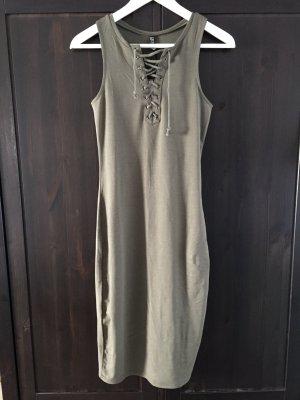 Cotton On Kleid neu mit Etikett XS geschnürt Khaki olive