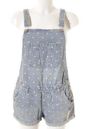 Cotton On Latzhose blassblau-weiß Punktemuster Jeans-Optik