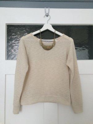 Cotton On Pulli Pullover Shirt Top Oberteil Beige Creme Nude Weiß Baumwolle XS 34
