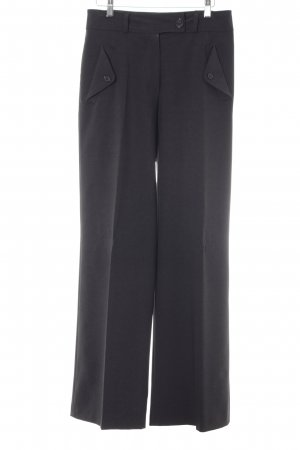 Cottonade Bundfaltenhose dunkelgrau Business-Look