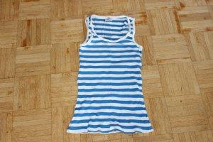Colours of the World Camisa de rayas azul neón-blanco Algodón
