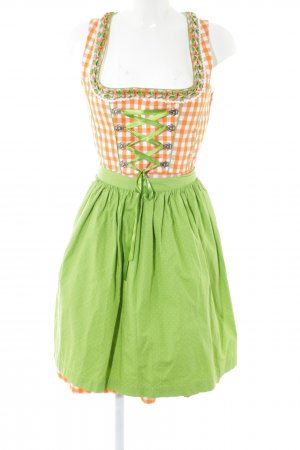 Country Life Dirndl green-light orange check pattern classic style
