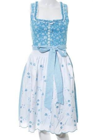 Country Line Dirndl blue-white check pattern elegant