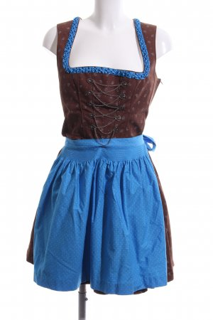 Country Line Dirndl bronze-colored-blue allover print classic style