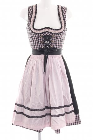 Country Line Dirndl pink-black check pattern classic style