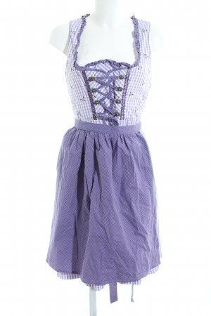 Country Line Dirndl lilac-white check pattern classic style