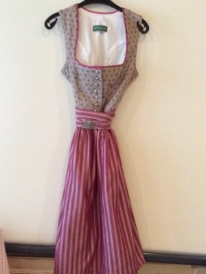 Country Line Dirndl Gr 40 Taupe Rosa Stretch neu