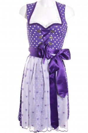 Country Line Dirndl lilac-white mixed pattern country style