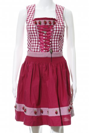 Country Line Dirndl magenta Karomuster Country-Look