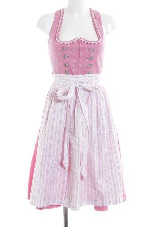 Country Line Dirndl pink-weiß Blumenmuster klassischer Stil