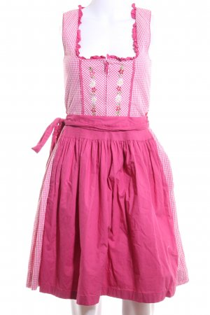 Country Line Dirndl rose-blanc motif à carreaux style classique