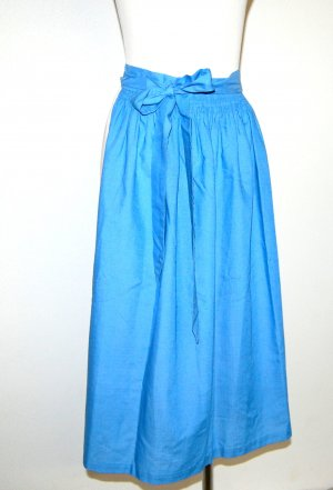 Country Line Delantal folclórico azul neón Algodón