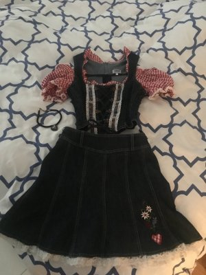 ***Country-Line***Jeans Mini Dirndl***