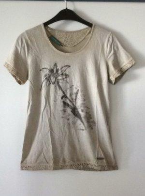 Country Line Trachten T Shirt Gr XS( 34) beige