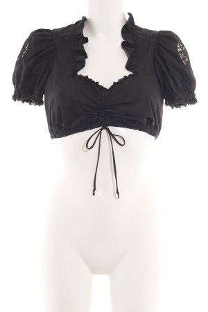 Country Line Traditional Blouse black classic style