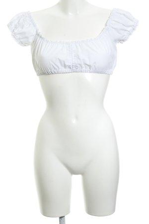 Country Line Blouse bavaroise blanc-blanc cassé style classique