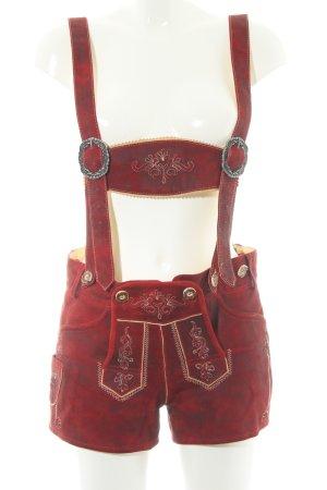 Country Line Folkloristische broek donkerrood country stijl