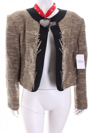 Country Line Traditional Jacket black-cream flecked country style