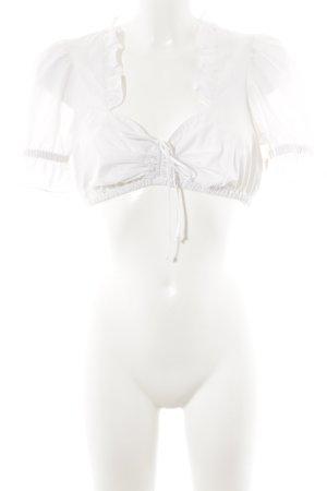 Country Line Folkloristische blouse wit klassieke stijl