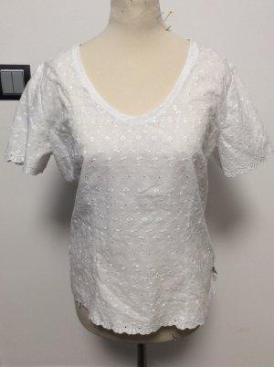 Country Line Trachtenshirt mit Lochmuster Gr 38 weiß