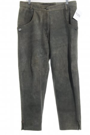 Country Maddox Pantalon traditionnel en cuir gris brun style campagnard