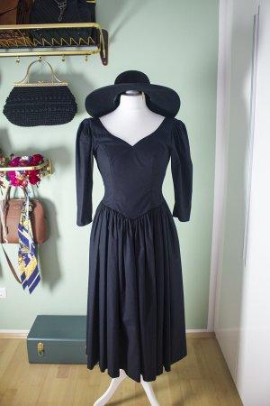 Laura Ashley Robe Hippie noir coton