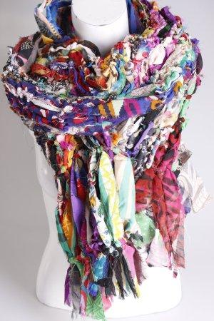 Écharpe multicolore soie