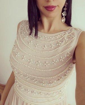 Couture Abendkleid Perlen Elegant Gr. 40 Brautjunfernkleid NP:260€