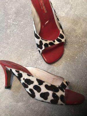 Couture Absatzsandalen, Pumps, Ponyhair Gr 36