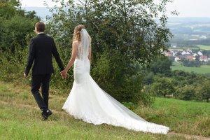 Couture-Brautkleid - ein Traum in ivory