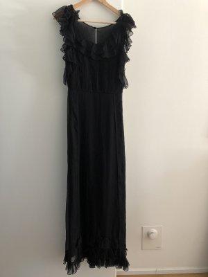 Juicy Couture Robe chiffon noir soie