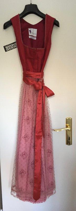 Couture Dirndl von Trachtsetter / Re-Kitz in rot Gr. 34/36 XS/S DESIGNER DIRNDL