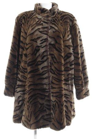 Couture Hélène Cappotto in eco pelliccia motivo animale
