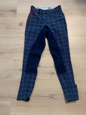 Pantalon d'équitation gris anthracite tissu mixte