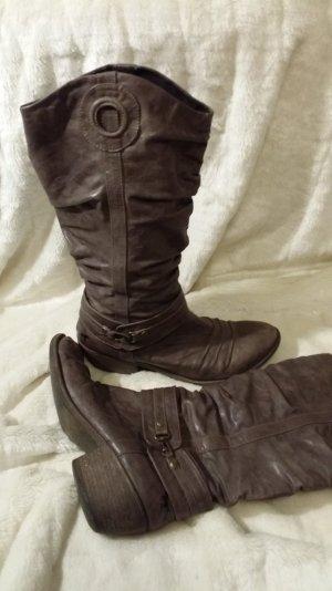 Cowboy Biker Stiefel in grau