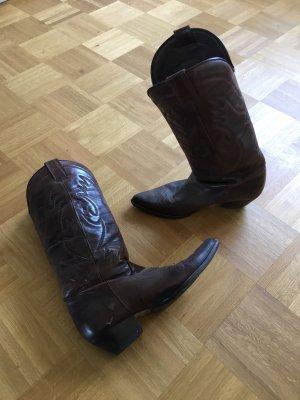Zara Boots western brun foncé