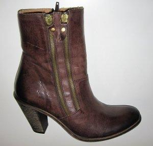 Heine Botines estilo vaquero marrón Cuero