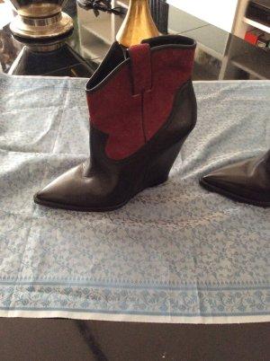 ASH Desert Boots black-dark red