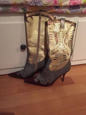 Cowboy Girl Stiefel Gold Gr 38 #Cowboy #Western #Festival
