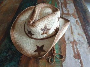 Cowboy Hut Strohhut Sterne Neu mit Etikett
