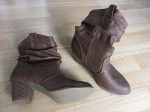 Cowboy Stiefel Boots Stiefeletten Gr. 37 braun beige - wie neu