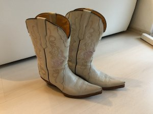 Buffalo Boots western blanc-rose clair