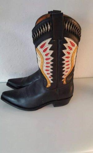 Cowboy Stiefel gr 42 schwarz Indianer Sendra Leder
